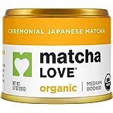 Matcha Love Ceremonial Green Tea Organic 0.7 Ounce Canister (Pack of 1) Green Tea Powder