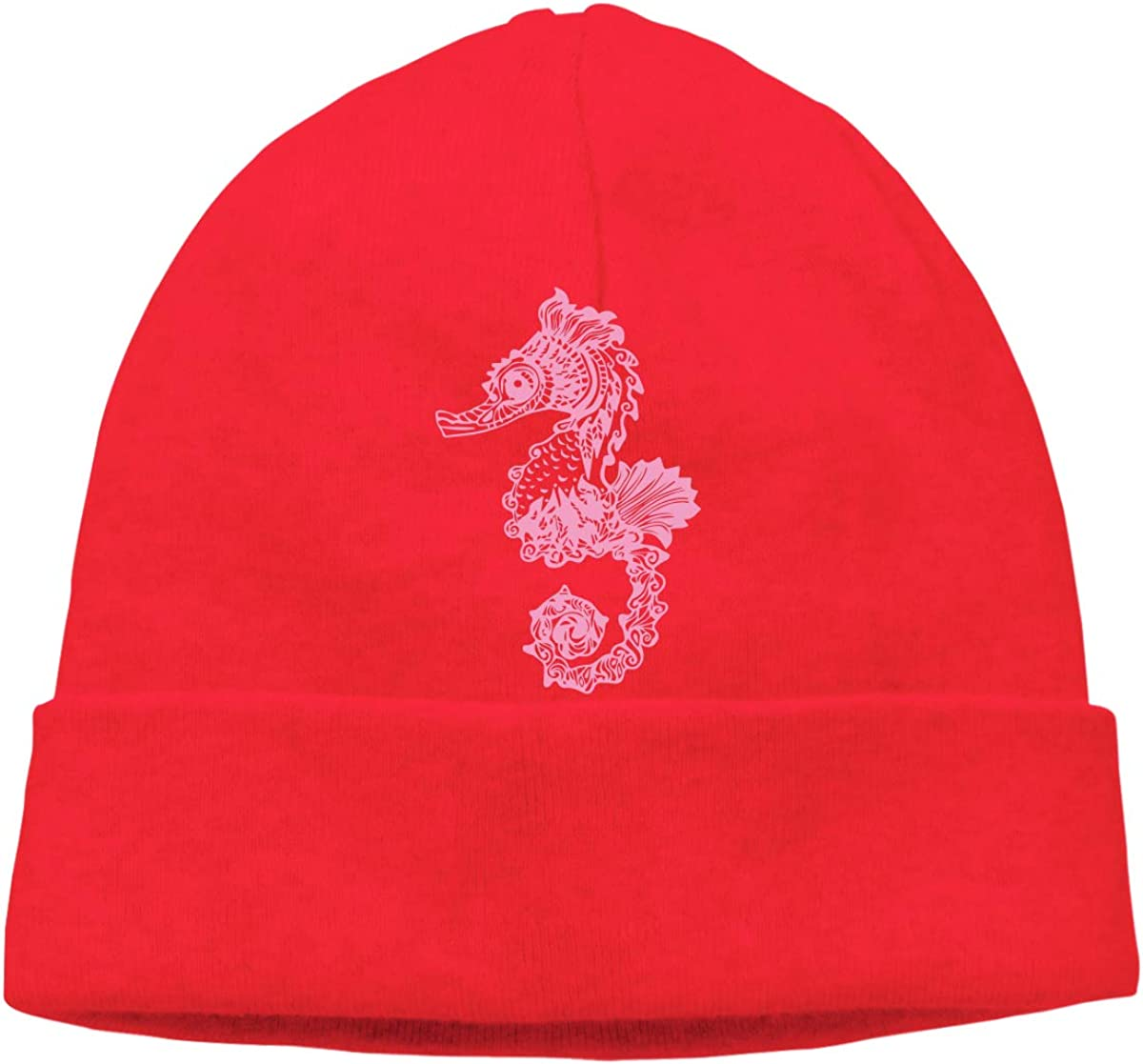 Wool Skull Cap BF5Y3z/&MA Mens and Womens Seahorse Knitting Hat