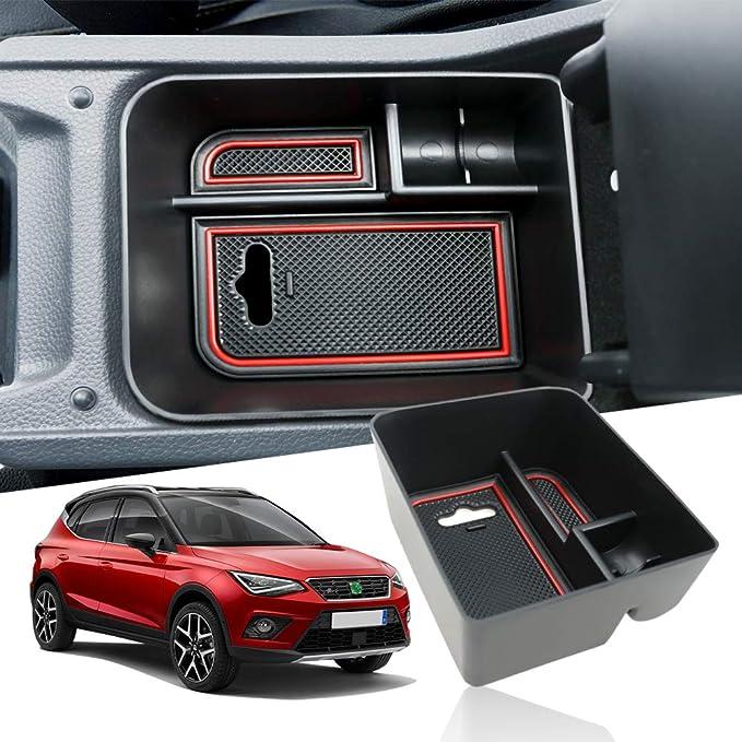 Yee Pin Mittelkonsole Seat Arona Seat Ibiza Handschuhfach Für Armlehne Organizer Aufbewahrungsbox Mit Rutschfestermatte Autozubehör Auto