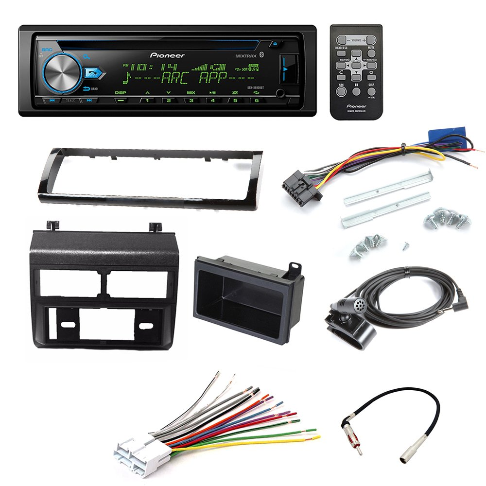 PIONEER DEH-X6900BT CD RECEIVER CAR STEREO CAR STEREO RADIO DASH INSTALLATION MOUNTING KIT+ ADD ON STORAGE POCKET+ WIRING HARNESS + RADIO ANTENNA ADAPTER FOR SELECT CHEVROLET AND GMC VEHICLES by American International , Metra, Scosche
