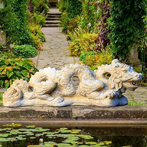 Jardín sueño chino Dragón piedra Figura – Nunca de Long, Antikgrau, 60x25cm (LxH): Amazon.es: Jardín