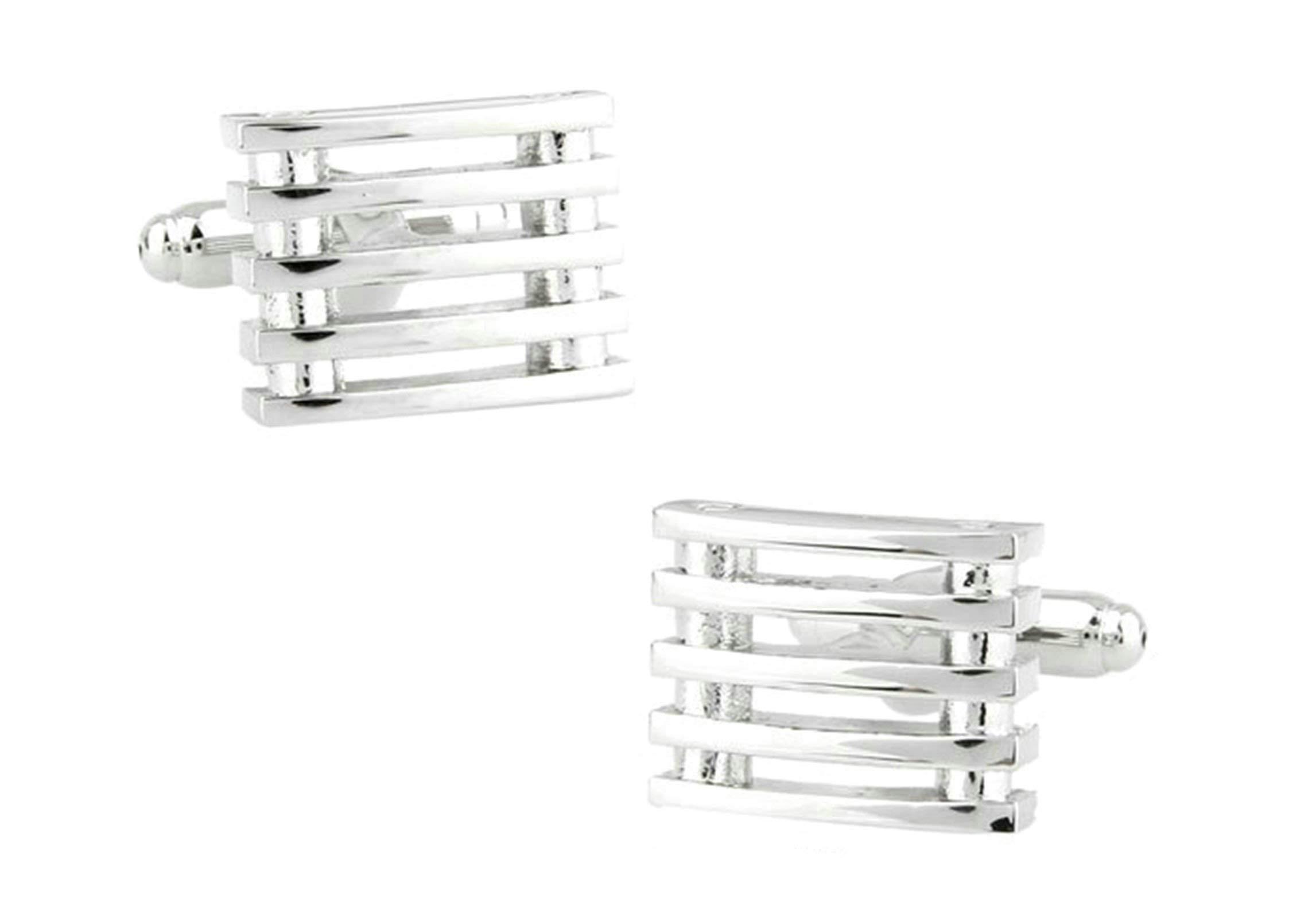 EoCot Shirt Cuff Links Wedding Cufflinks Copper Silver Rectangular Wedding Business Classic Cufflinks