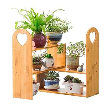 JUN Blumentreppen Multifunktions Drehen Hölzerne Blume / Betriebsständer /  Regal Garten Pflanzen