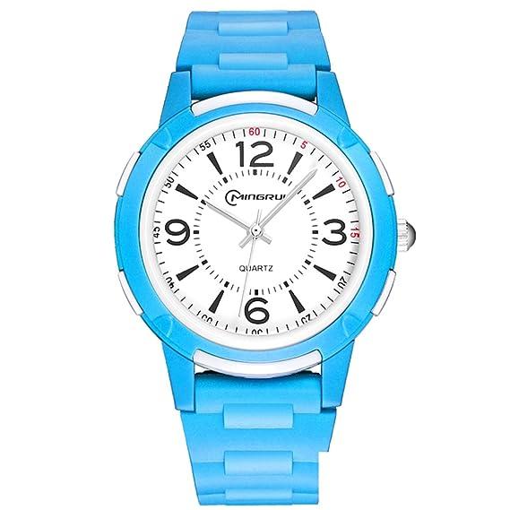 Niño] Reloj de cuarzo Encantador] Impermeable Natación Luminoso Relojes digitales Niña-E