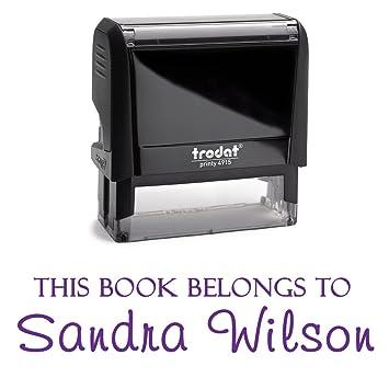 Negro, tampones de tinta. personalizada; Este Libro Pertenece A, de ...