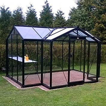 Glas-Gewächshaus Orangerie Marnie 10,26 m²: Amazon.de: Garten