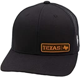 f1c029c3cd7 Branded Bills 'Texas Native' Leather Patch Hat Curved Trucker - OSFA/Black