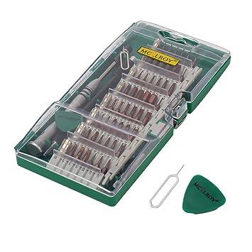 Pynarc 62en1 Kit del Destornillador, Electronico Preciso Reparación Herramientas de Precisión Torx Manejador de Dispositivo para Celular, iPad, ...