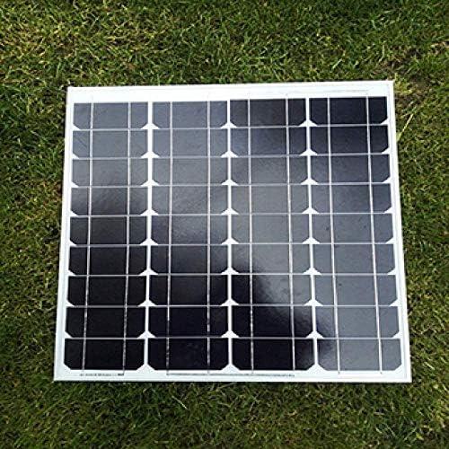 zhangchao Sonnenkollektor, 50W Einzelkristall Solar Panel Power Generation Brett Photovoltaic Power Generation System 18V Lade 12V Batterie Haushalt
