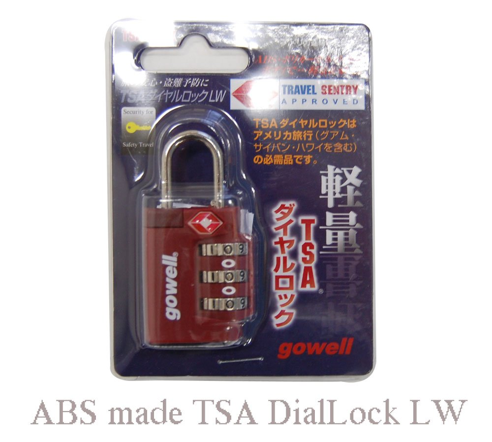 [Gowell Gou~eru] resin lightweight TSA dial lock LW (Red) (japan import) by