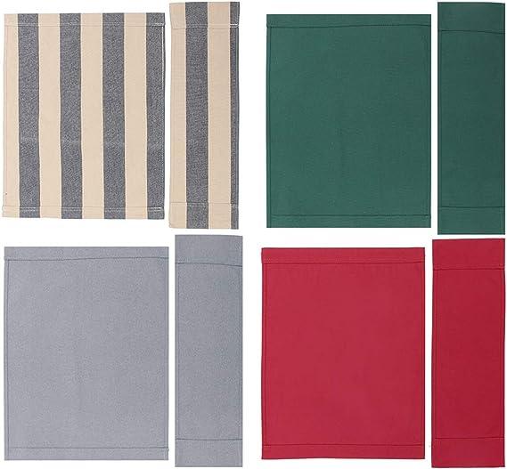 KUNSE 4 Color Directores Sillas Reemplazo Lona Asiento Taburete Casual Back Cover Kit De Hoja-Rojo