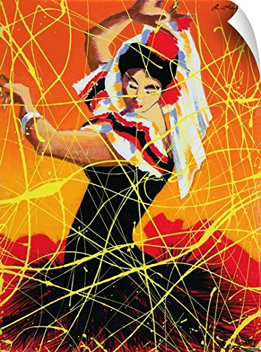 Traditional Flamenco Dance Costumes (Andrew Hewkin Wall Peel Wall Art Print entitled Flamenco Fiesta, 1997)