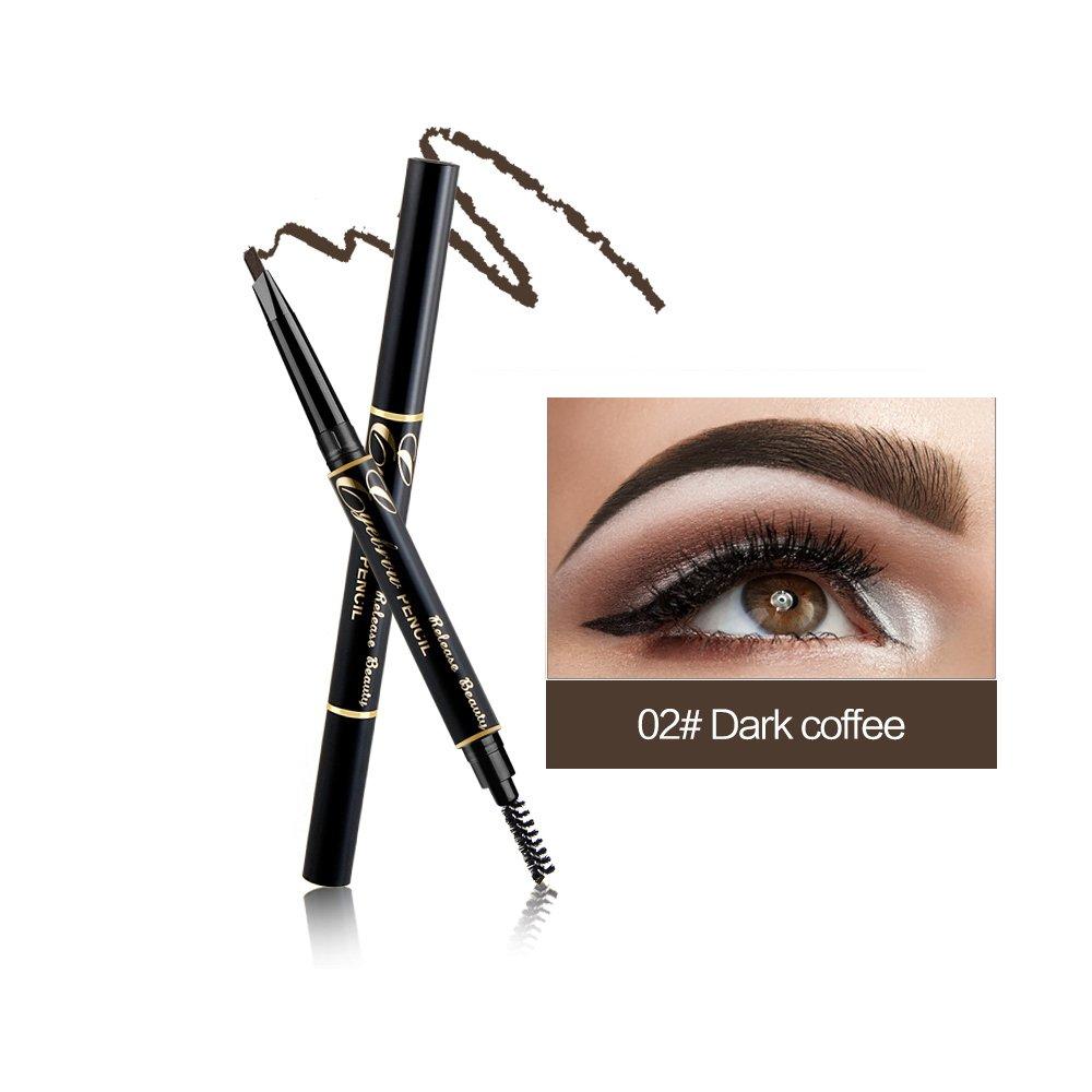 RELEASE BEAUTY Waterproof Retractable Long Lasting Eyebrow Pencil Eye Dark coffee Number 2