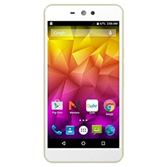 Micromax Q345  Dual SIM, White + Champange  Smartphones