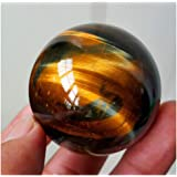m·kvfa Dark Yellow Asian Rare Tiger Eye Quartz Crystal Healing Ball Sphere 2.5mm Toy Jewelry Decoration A Great Gift for Your