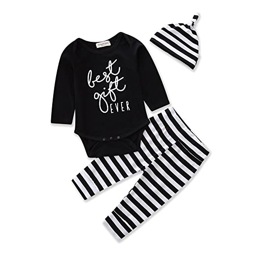 5dbfddaf68af Amazon.com  Baby Clothing Boy Girl Clothes Infant Romper Striped ...