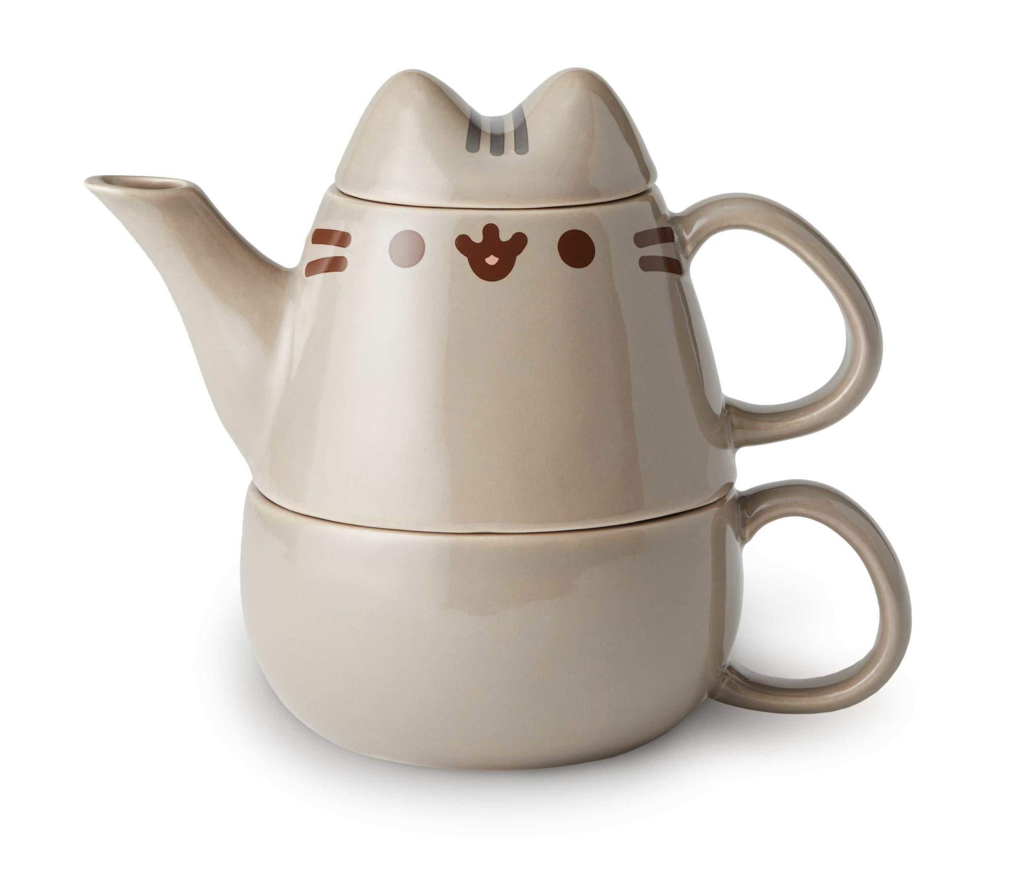 Enesco Our Name is Mud, 6002675, Pusheen ''Tea for One'' Tea Kit, 10 ounces