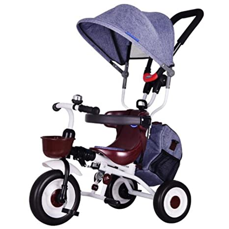 HUALQ Bicicleta Plegable Triciclo Carrito de bebé 1-5 niños Triciclo Bicicleta