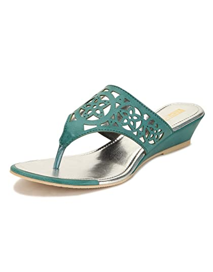 a17f090eca6fe Yepme Green Sandals - YPWFOOT9299_4: Buy Online at Low Prices in ...