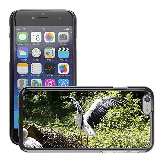 """Bild Hart Handy Schwarz Schutz Case Cover Schale Etui // M00134868 Störche Storch Flügelschlagend Vogel // Apple iPhone 6 PLUS 5.5"""""""
