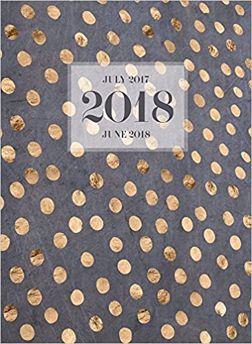 2018 academic year gold dots monthly planner july 2017 june 2018