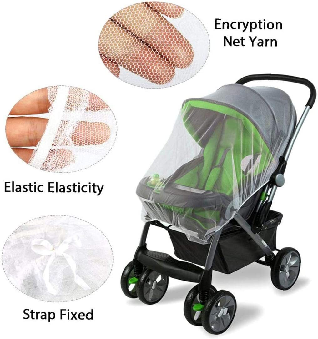 Baby Stroller Mosquito Net Universal Baby Insect Net Trolley Anti Mosquito Cover Soft Insect Netting Ultra Fine Mesh Protection Against Mosquito 1pc