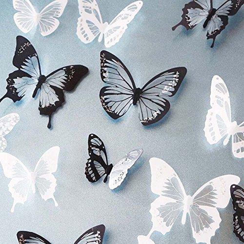 SwirlColor 18x 3D Schmetterlings-Kristall Dekor-Wand-Aufkleber-Dekor-Wandtattoos