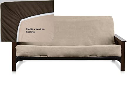 OctoRose ® Full Size Elastic Bonded Micro Suede Easy Fit Fitted Futon Cover  (Camel): Amazon.ca: Home U0026 Kitchen