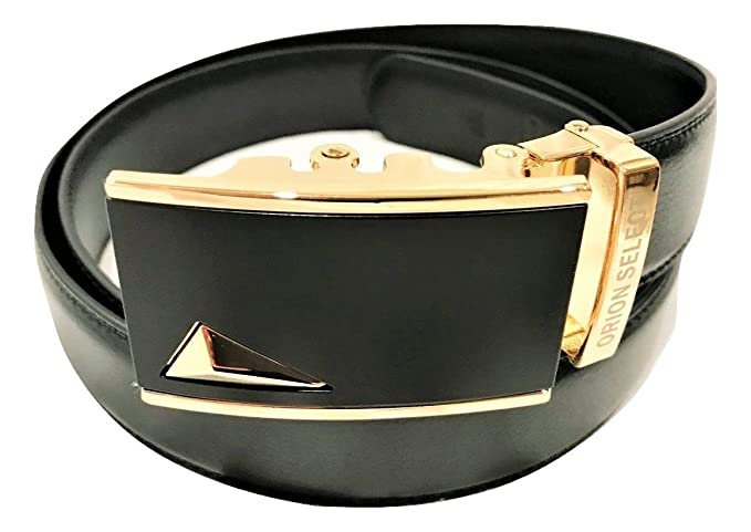 5e238953952c8 Image Unavailable. Image not available for. Color: Mens Leather Belt BLACK  ...