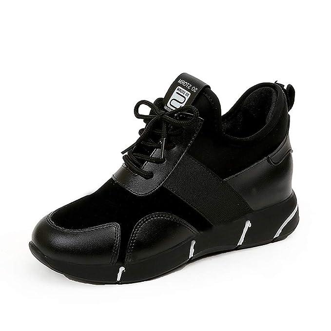 POLP Calzado Zapatos Mujer Planos Plataforma Deportivos Correr Caminar Gimnasio Ocasional Sports Zapatillas para Athletic Sports Sneakers Calcetines Zapatos ...