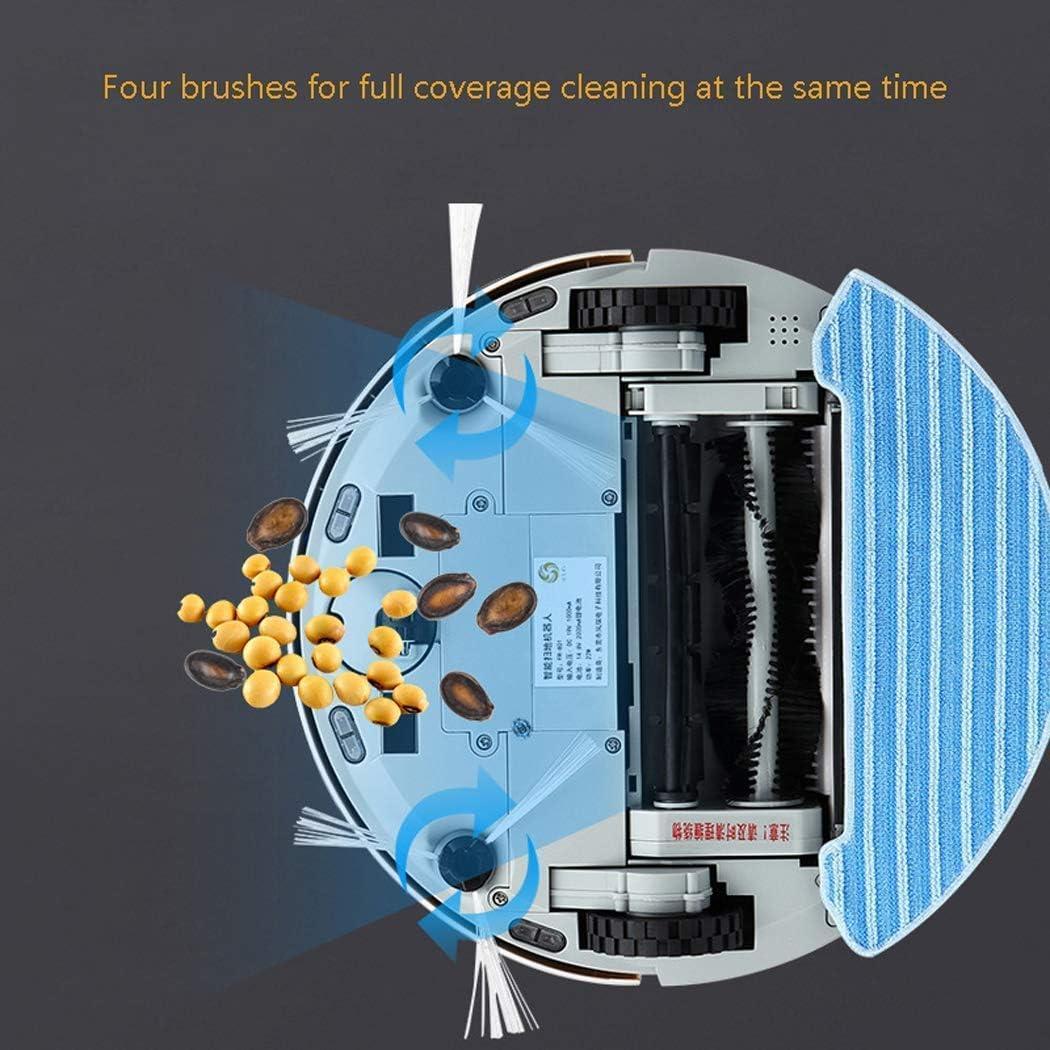 Accueil Lidar Navigation Planification Sweeper HighEnd Balayer Intelligent Robot automatique Collecteur de poussière, robot aspirateur bleu, BBGSFDC (Color : Blue) Blue