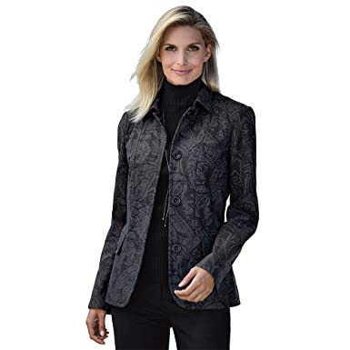 8a9edd95cc CHADWICKS OF BOSTON Women s Misses   Plus Size Paisley Wool Blazer (Misses