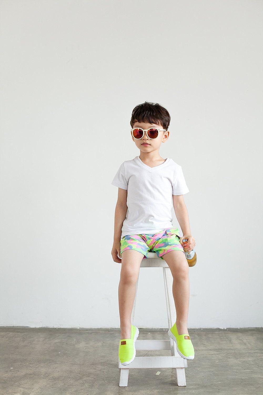 Vaenait baby 3 Pack 2T-7T Boys Shortsleeve V Neck Top T-Shirts Short British