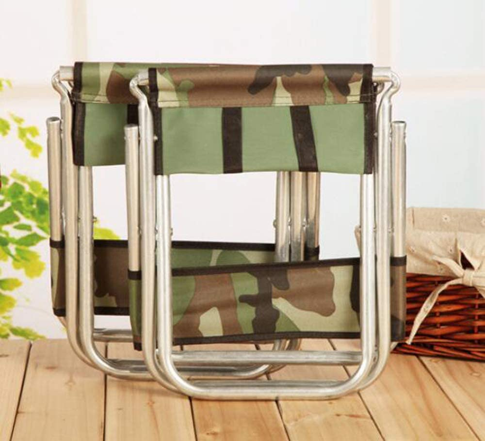 Portable Folding Chair with Backrest Chair Fishing Stool Camouflage Camping Fishing Outdoors