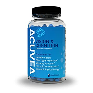 Acuvea- Vision and Cognition Formulated for: Healthy Vision, Blue Light  Protection, Memory Functiom, Focus