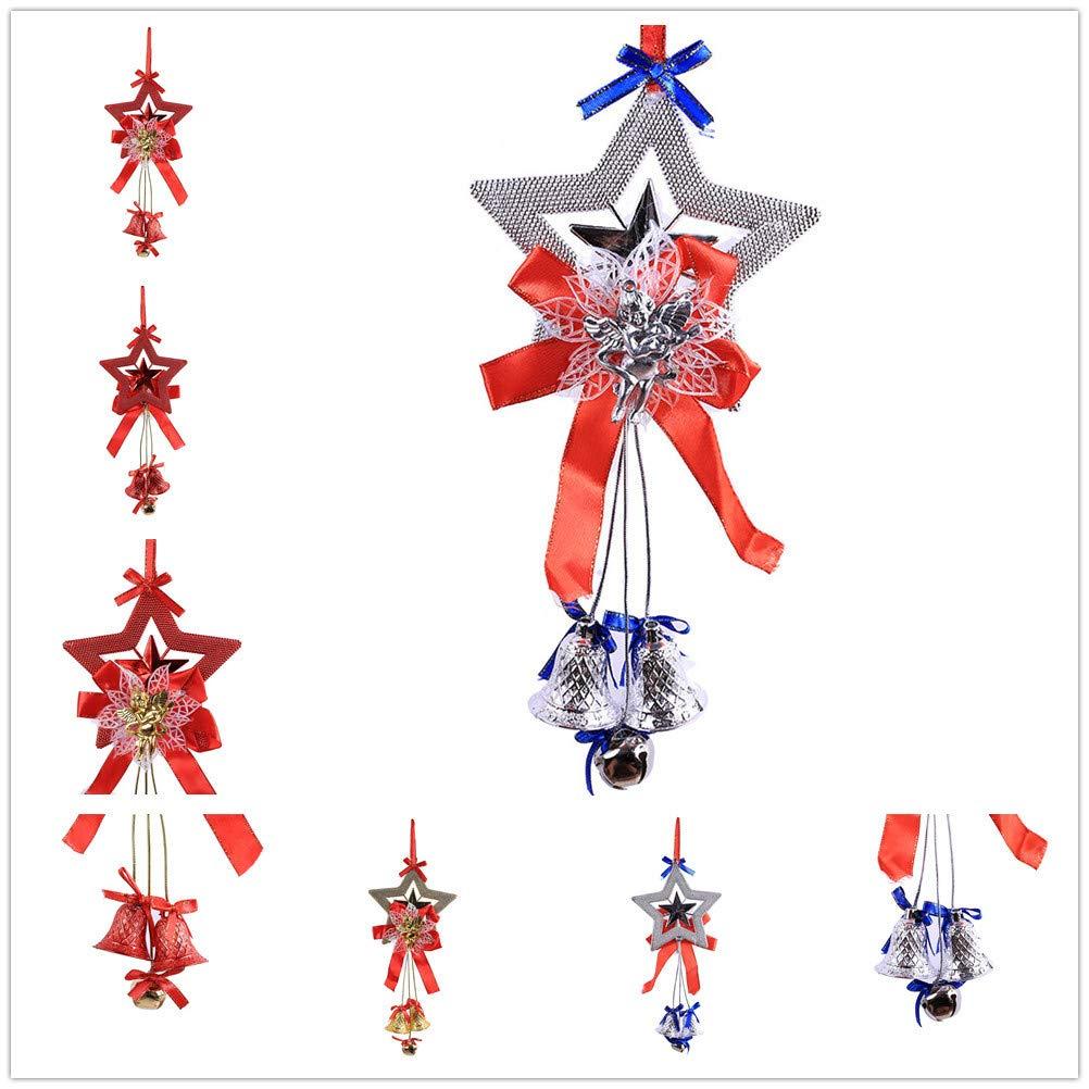 BHYDRY Navidad Campana Bola de Cadena árbol Colgante Colgante Adorno decoración Moda: Amazon.es: Hogar