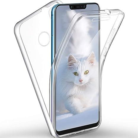 SpiritSun Funda para Huawei P Smart Plus, Transparente Carcasa con 360 Grados Protector Silicona Case para Huawei P Smart Plus Flexible Gel TPU Bumper ...