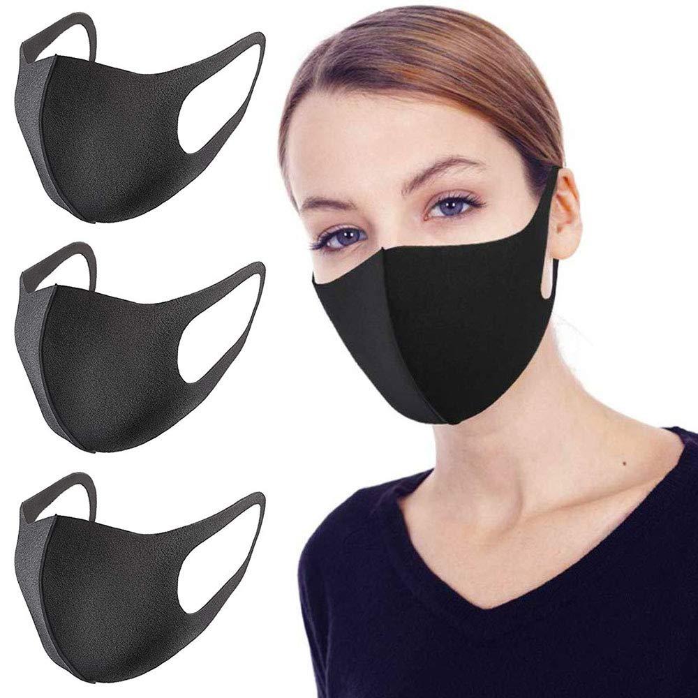 Paquete de 3 Mascarilla Facial Antipolvo m/áscara Unisex Reutilizable Lavable de Moda al Aire Libre