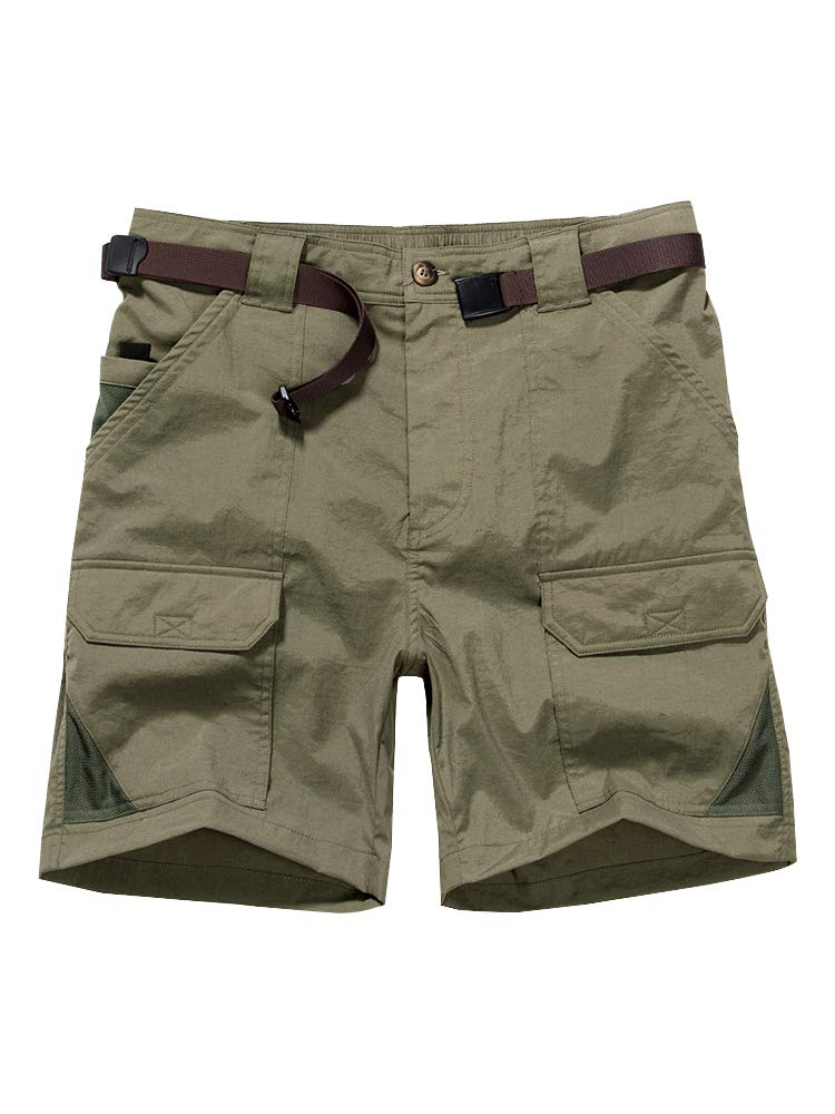 Toomett Men's Outdoor Lightweight Hiking Shorts Quick Dry Shorts Sports Casual Shorts 6018,Khaki,US 40 by Toomett