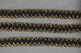 WellieSTR (Gold&Black Color)Braided Gimp Trim Ribbon Wedding Prom Party Birthday Decorations 1.2cm X 20yd
