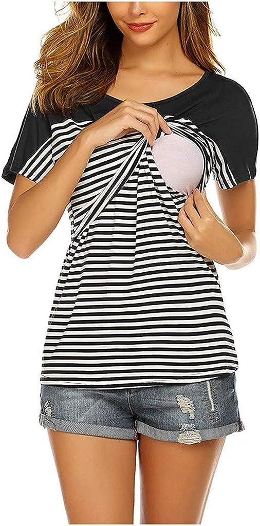 Femme Enceinte Vetement T-Shirt Allaitement Sweat-Shirt Col Rond Allaitement /à Manches Courtes Femmes Maternit/é Mode Tops Sweats Hauts Enceinte Sweatshirt Maternit/é Grossesse Robe