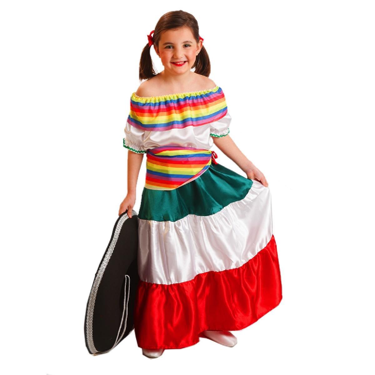 El Rey del Carnaval Disfraz MEJICANA 6/7 AÑOS: Amazon.es: Juguetes ...