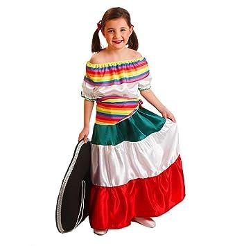 El Rey del Carnaval - Disfraz mejicana talla 8-10 años: Amazon.es ...
