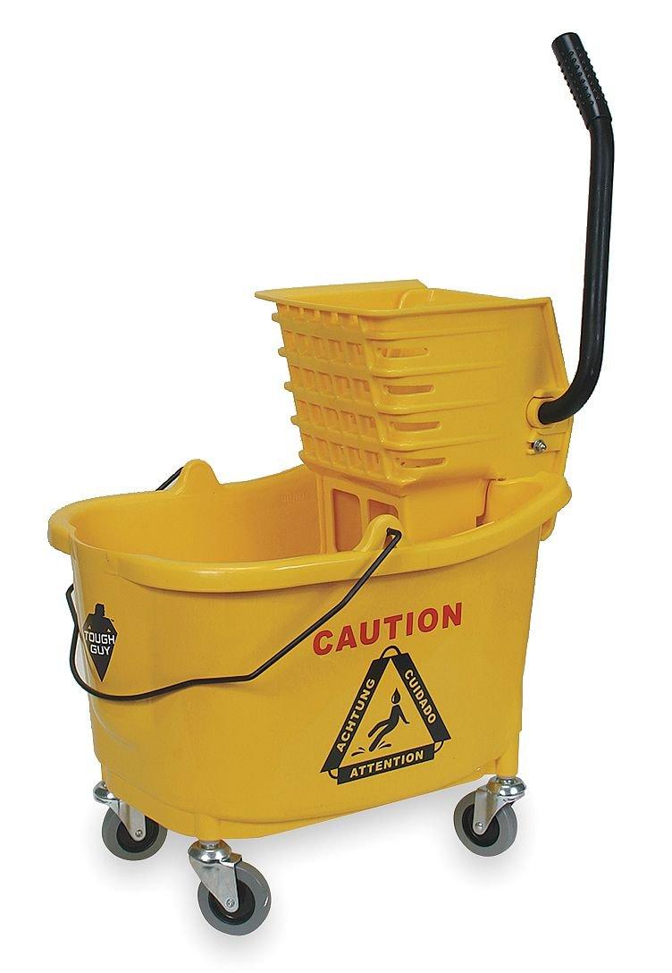 B001QRHBSK Tough Guy Mop Bucket and Wringer, 8-3/4 gal, Yellow 6115adTZgkL._SL1088_
