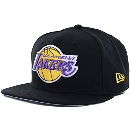 91b6586e180626 Image Unavailable. Image not available for. Color: New Era 59Fifty Los  Angeles LA Lakers Fitted Hat (Black) Men's HWC NBA Cap