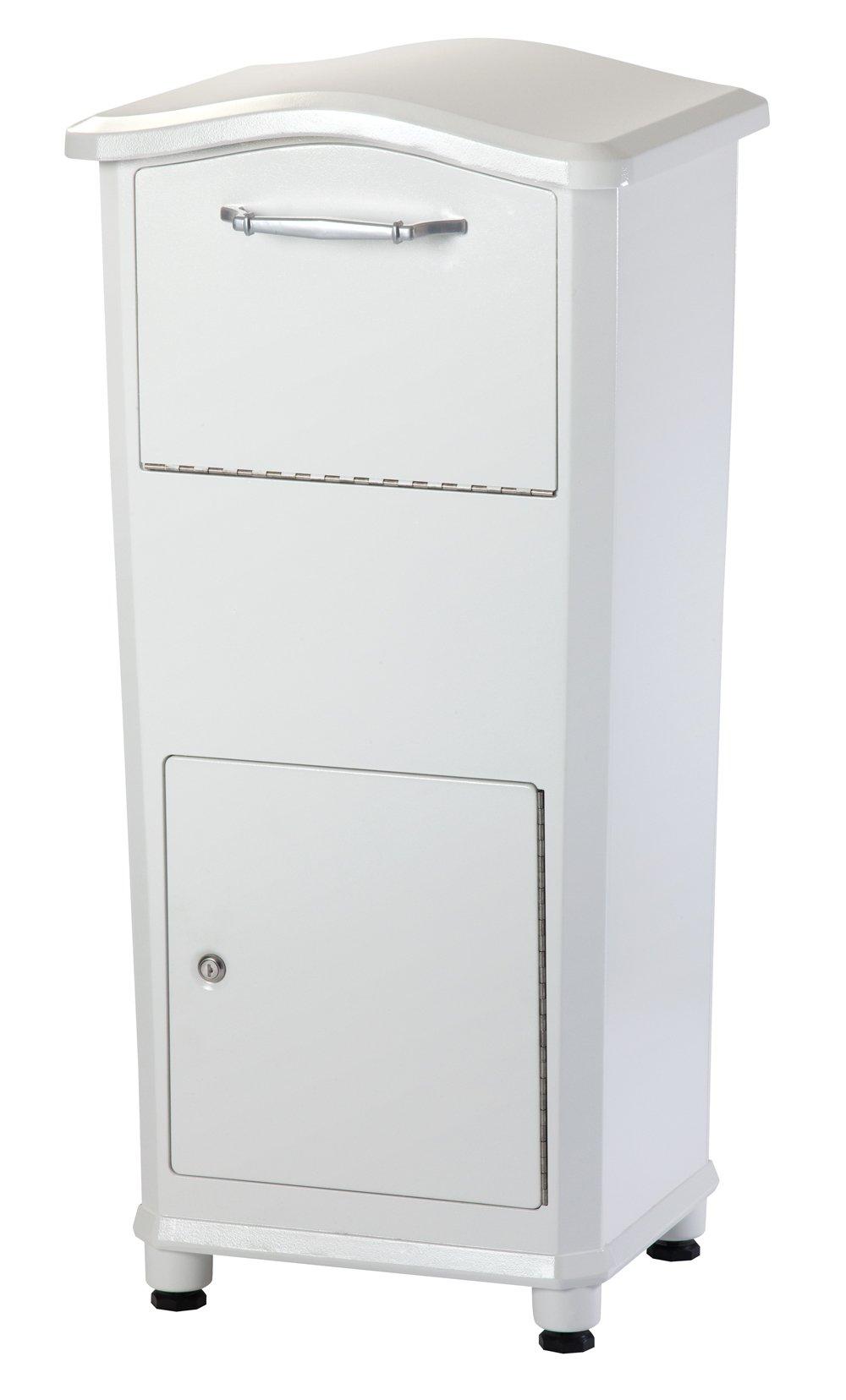 Architectural Mailboxes 6900W Elephantrunk Parcel Drop Box, White