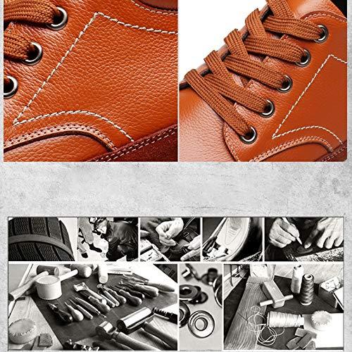 De Zapatos De Zapatos Cuero Nueva De 6cm Casuales Altura Moda Invisible Zapatos 8648black YXLONG Otoño Aumento Zapatos Marea Transpirables Los Hombres Solo SX0nawq
