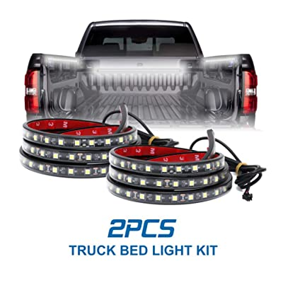 LED Truck Bed Lighting 2PCS 60Inch Flexible Strip light Kits 12V High Brightness with On-Off Switch Fuse 2-Way Splitter Cable for Cargo Boats Pickup SUV or Others(IP65): Automotive