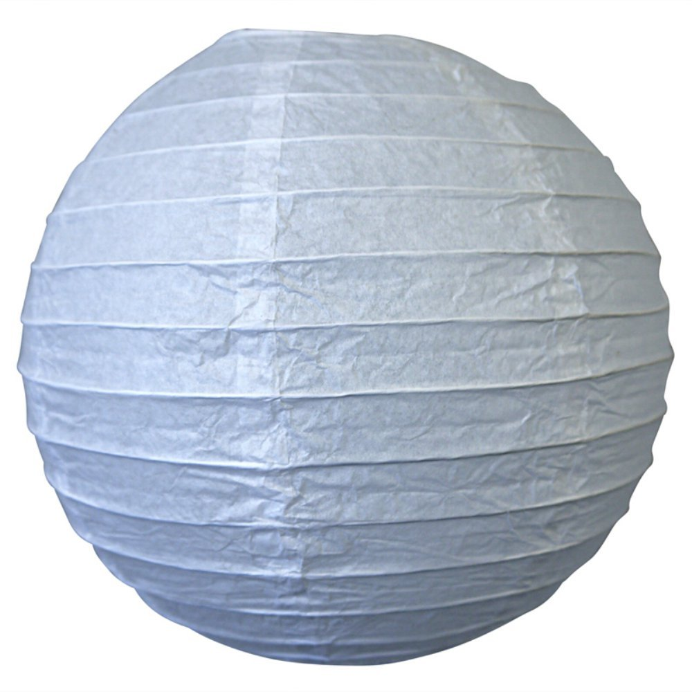 球体ペーパーランタン うね織り模様 ぶらさげるのに(電球は別売り) 10 Inch 10EVP-WH 1 B003KZT2ME 10 Inch ホワイト ホワイト 10 Inch