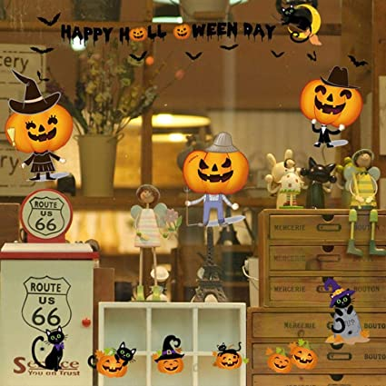 Amazoncom Rumas DIY Self Adhesive Pumpkin Halloween Wall Stickers